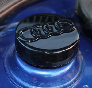 Audi-a3-8-l-mk1-Strut-cap-covers-Gloss-Black-ABS-Audi-Logo