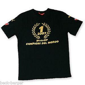 DUCATI Puma Corse MOTO GP Weltmeister T-Shirt schwarz Casey Stoner Siegerkranz