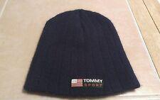 90s Vintage Tommy Hilfiger Sport Logo Beanie Headgear Hat Cap Cloth Blue Rare