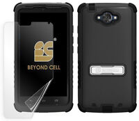 Black Tri-shield Rugged Skin Case Stand For Motorola Droid Turbo Ballistic Nylon