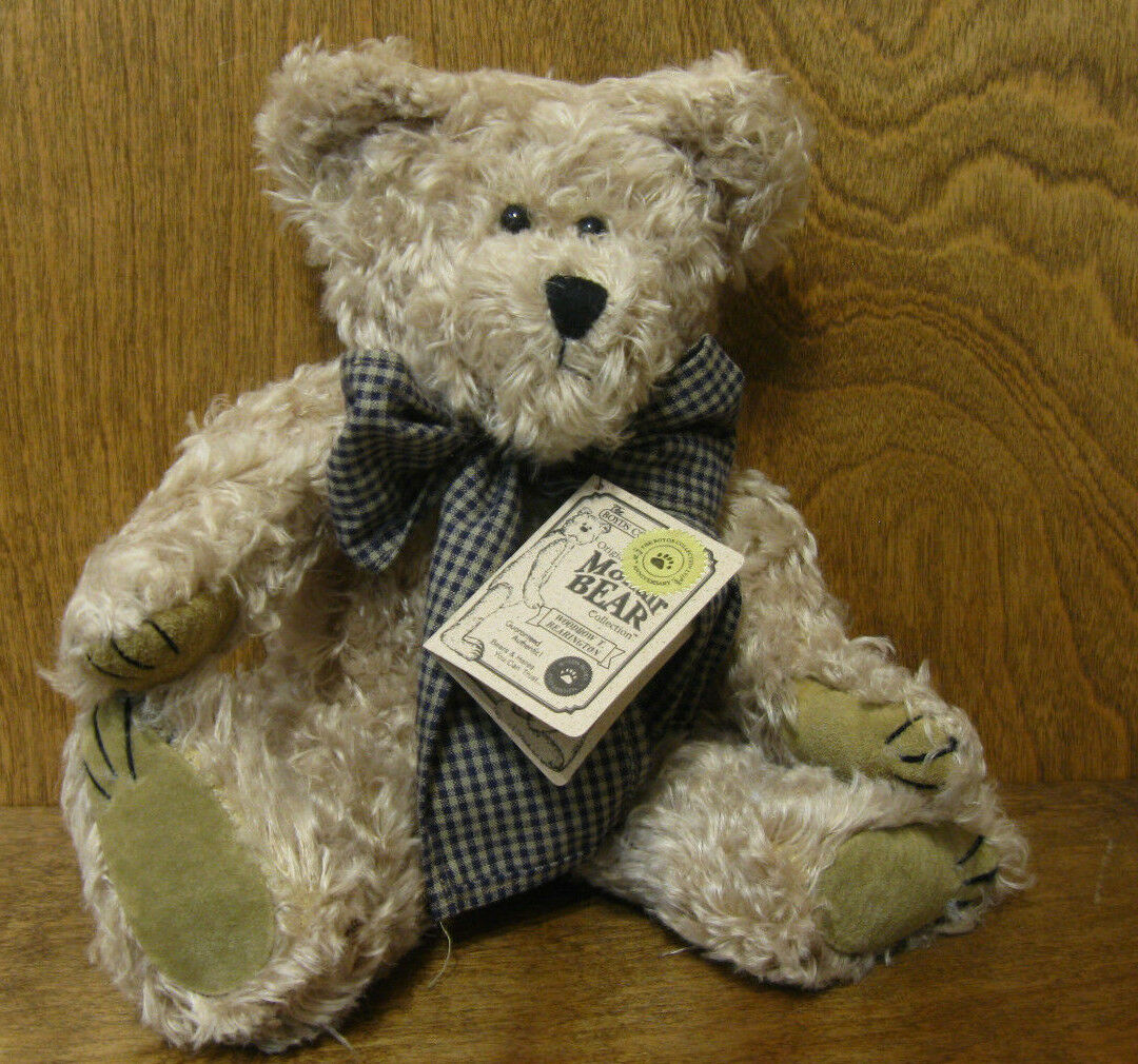 Boyds Mohair Plush  590041-03 WOODROW T. BEARINGTON, 11    nuovo from Retail Store 9faf28