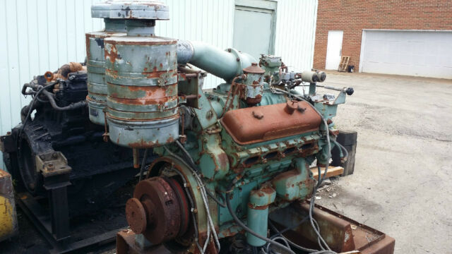 Detroit Diesel 8V-71 Core Generator Engine **Rotates / Turns 360°**