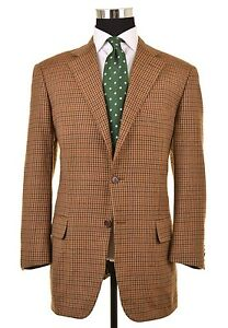 Faconnable-x-CARUSO-Brown-Gun-Club-Check-WOOL-CASHMERE-Sport-Coat-Jacket-50-40-R