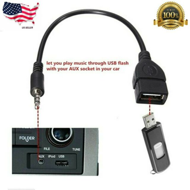 USB A Male To 2x 3.5mm Head//Microphone Socket Adapter//Converter Cable Hot 1 Pc