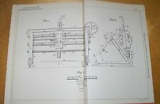 SHIP PLATE LEVELLING MACHINERY PATENT. DONALDSON, THORNYCROFT, CHISWICK 1898