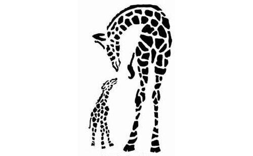 A5 A4 A3 ***NEW*** Giraffe /& Baby 190 micron Mylar Stencil durable /& sturdy
