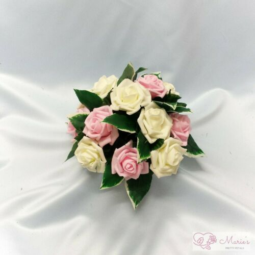 Baby Pink Wedding Flowers Top Table Decoration Pedestal Candle Ring Arrangement
