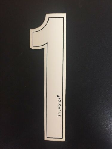Numeri Adesivi Moto 1 Bianco
