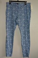 June & Daisy Printed Denim Legging Size L Brocade $25.99 & $6.99 Sh In Us