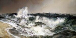 Seascape the much resounding sea T. Moran Tile Mural Backsplash Marble Ceramic