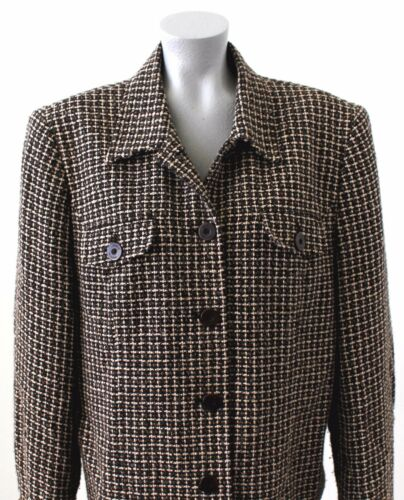 New Jones Size Jacket 16 Cream Blazer York Womans Designer Brown drqwrRA