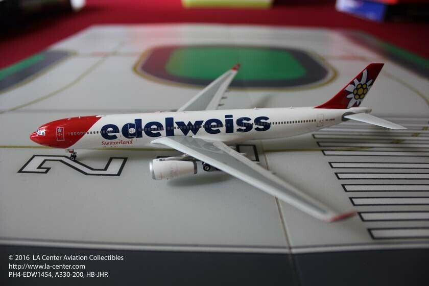 Phoenix modelo suizo Edelweiss Airlines Airbus A330-300 Diecast Modelo 1 400