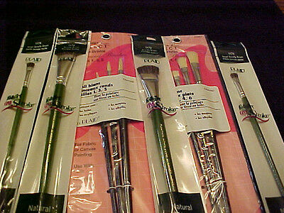 3 Painters Select Round Brushes 3 Flat P S Donna Dewberry Scruffy Brushes 4