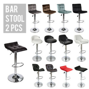 Set-Of-2-Bar-Stools-Adjustable-Hydraulic-Swivel-Dining-Counter-Pub-Chair-Kitchen