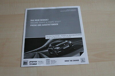 Prospekt 02/2012 Waren Des TäGlichen Bedarfs Preise & Extras Renault Megane Rs 2.0 16v Coupe 106513
