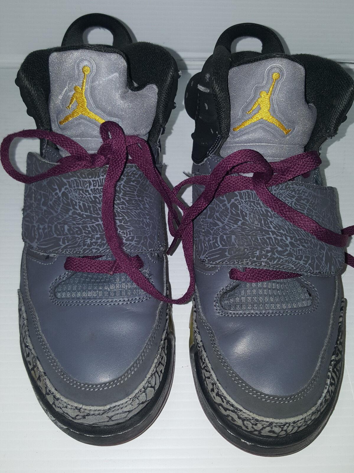JORDAN Air Nike Mens Sneakers Shoes OF MARS Bordeaux Dark Gray Size 8 Leather