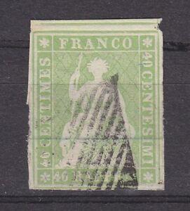 Schweiz-1854-MiNr-17Ib-gest-40-Rp-034-Sitzende-Helvetia-034-Befund-Marchand