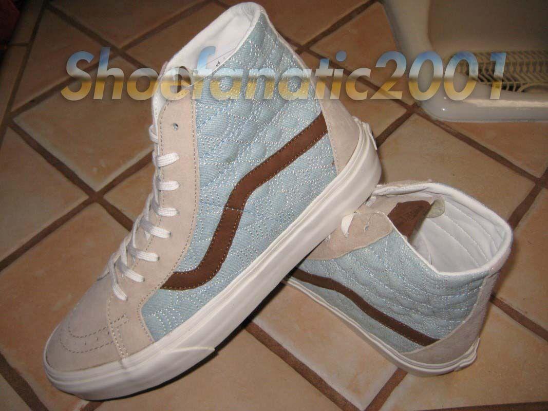 Vans Sample SK8 Hi Reissue Pig Suede Denim Khaki Supreme Skateboarding Limited Scarpe classiche da uomo