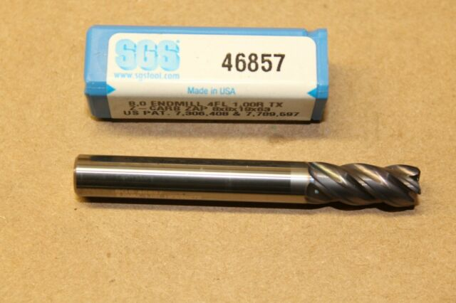 SGS 46886 Z-CARB-AP Carbide Square End Mill 4FL 1.5MM CR 8mm x 19mm x 63.5mm