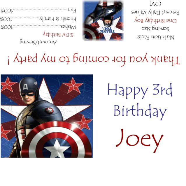 20 CAPTAIN AMERICA BIRTHDAY PARTY FAVORS STICKERS LABELS FOR lollipops goody bag