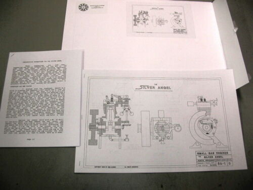 Bob Shores Anjo Prata Modelo Motor planos e Construtores dicas barstock construído