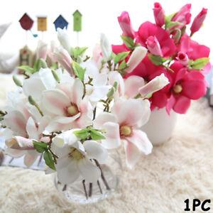 New-Artificial-Fake-Flowers-Leaf-Magnolia-Floral-Wedding-Bouquet-Home-Decor