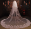 Cathedral-Length-Wedding-Bridal-Long-Veils-Comb-3-M-White-Ivory-Lace-Crystals thumbnail 1