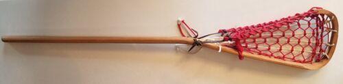 "Vintage Patterson Wood Lacrosse Stick Tuscarora Nation Antique Indian Made   39/"""