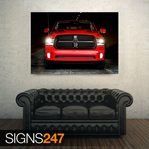 CAR POSTER Poster Print Art A0 A1 A2 A3 DODGE RAM 1500 NIGHT 2017 AA670