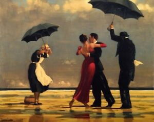 """Art Supplies Diy Paint By Number Kit 16x20"""" Acrylic Painting On Canvas Dancing In Rain 1081 Clearance Price"""