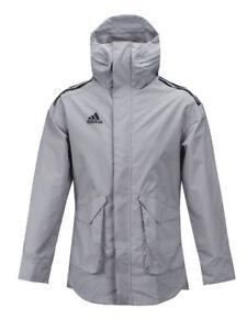 Détails sur BNWT Adidas Veste Manteau de pluie Tango Futur All Weather Climastorm Gris BQ6858 afficher le titre d'origine