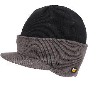 3e1211ea178b2 Details about Caterpillar Hat Mens Unisex Hats Visor Knit Beanie Hat Double  Layered Winter Cap