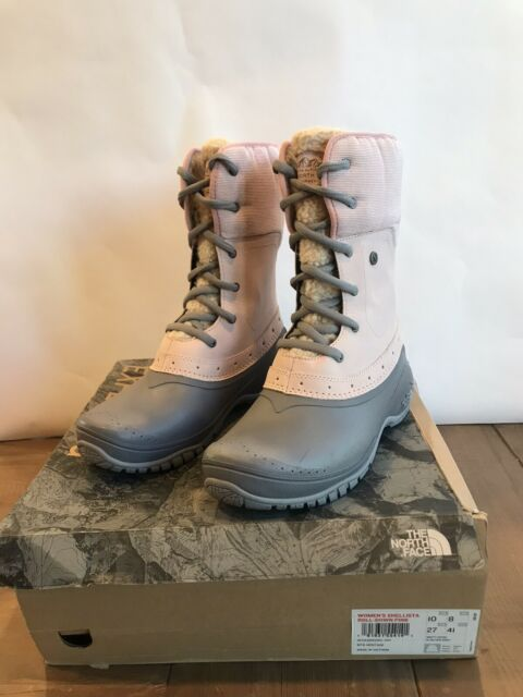 The North Face Womens Shellista Suede Pink/Grey Boots Size 10 New Free Ship