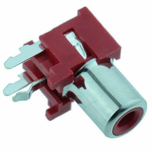 10 x Red RCA Right Angle PCB Phono Socket Connector