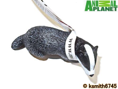 NOUVEAU Mojo Animal Planet Badger solide Jouet en plastique Wild Zoo Woodland Garden