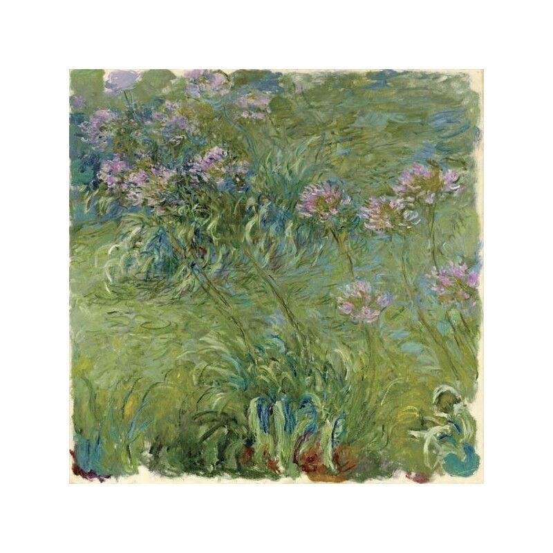 Quadro su Pannello in Legno MDF Claude Monet Agapanthe Agapanthe Agapanthe bde6e9