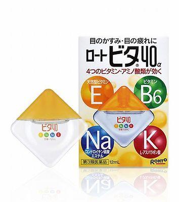 Rohto Vita 40a Alpha 12ml Vitamin Eye Drops from Japan