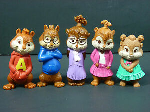 Mcdonalds Canada 2010 Alvin And The Chipmunks The Squeakquel Set 5 Figures Toy Ebay