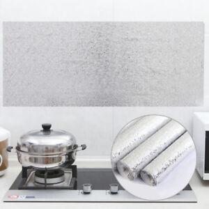 Aluminum Foil Paper Wall Sticker Self Adhesive Kitchen Oil