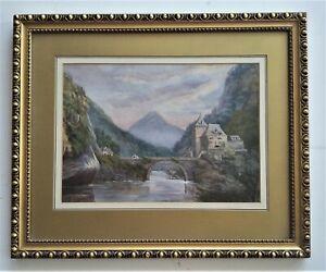 Listed-Austrian-Artist-E-Adams-20th-C-w-c-10-034-x-14-034-Signed