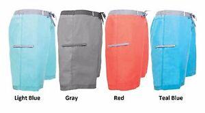 Mens-Board-Swim-Shorts-Gray-Red-Blue-Teal-Cove-NWT-30-32-34-36-38-S-M-L-XL-XXL