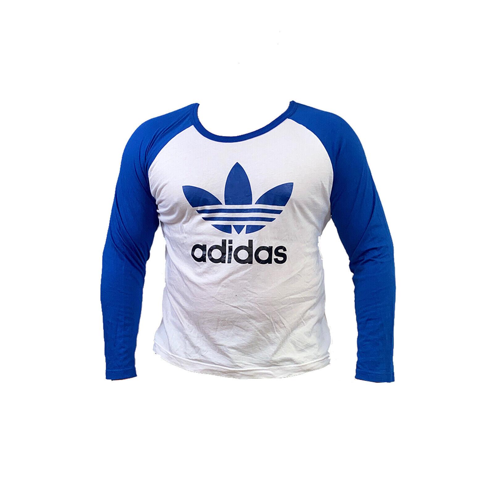 Adidas AJ6957 Herren Freizeitshirt Trefoil Longsleeve Sport Essentials Weiß/Blau