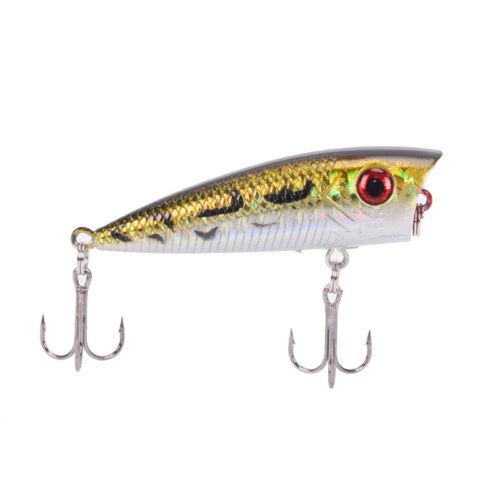 6cm//6.4g fishing lures hard baits artificial popper crankbait wobblers bait   JB