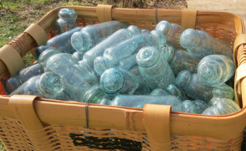 "Japanese Glass FLOATS 5/"" ROLLING PIN Lot-50 Ocean Fishing ROLLERS BULK Vntg"