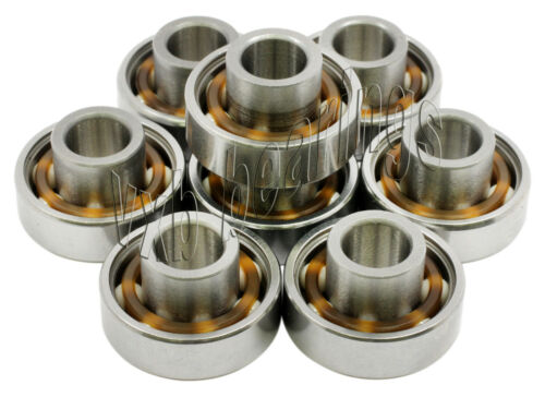 8 Skateboard Extended Bearing with Built-in Spacers Ball Bearings Skateboarding