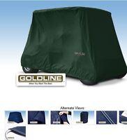 Goldline Premium 4 Person Passenger Golf Car Cart Storage Cover, Hunter Green