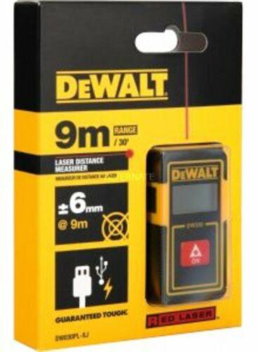 NEW DeWalt DW030PL 9m Pocket Laser Distance Measurer NO MORE TAPE Free Post