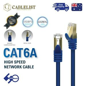 CAT6A-Network-Cable-UTP-24AWG-10Gbps-Pure-Copper-Oxygen-Free-0-5m-1m-2m-5m-10m