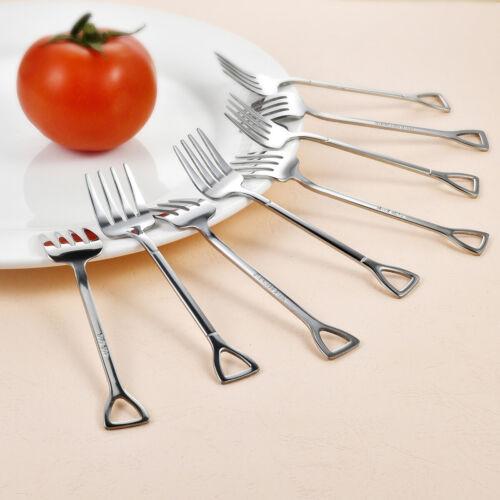 8pcs Stainless Steel Dessert Cake Fruit Salad Fork Party Wedding Kitchen Forks