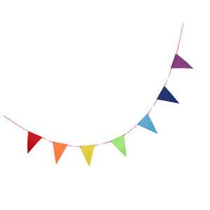 Details About Rainbow Triangle Bunting Banner Wedding Party Nursery Room Hanging Pennant